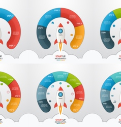 3 8 steps startup circle infographic templates set vector image vector image