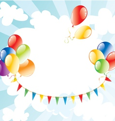 colorful balloons in the sky vector image