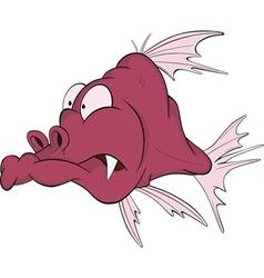 Deep water fish vector