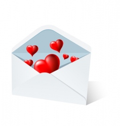heart mail vector image