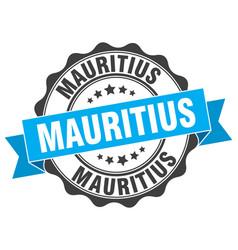 mauritius round ribbon seal vector image vector image