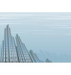 Misty dark building vector image vector image