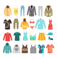modern stylish man and woman clothes shoes and vector image vector image