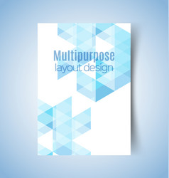 multipurpose layout design 10 vector image vector image