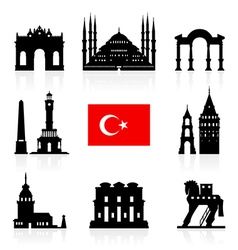 Turkey Travel Landmarks Icon vector image vector image
