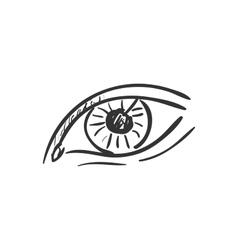 eye doodle drawing vector image
