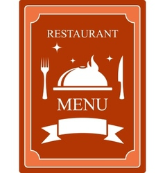 Menu background with kitchen utensil and dish vector