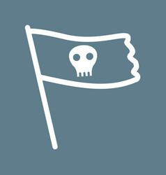 Pirate flag ii vector