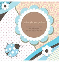 Blue romantic baby card vector image