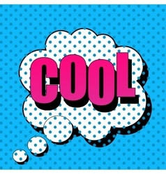 Cool comic cartoon vector image