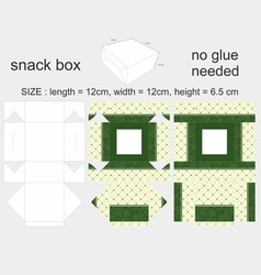 Green Snack Box 12x12x65cm vector image