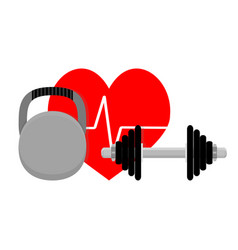 healthy heart sport and fitness vector image