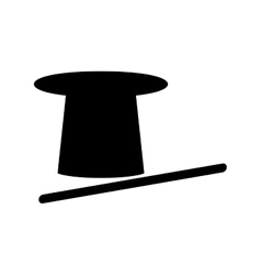 Isolated magician hat vector