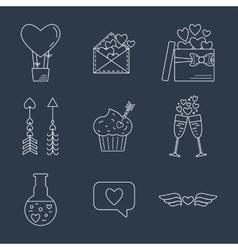 Line valentine day icon Flat design vector image