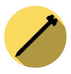 screw sign flat black icon vector image