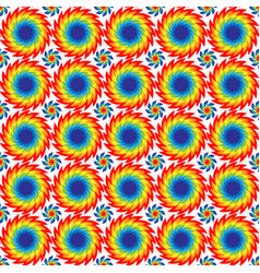 Seamless pattern of bright discs with serrated vector