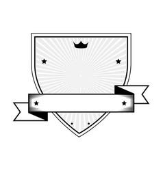 shield with ribbon emblem vector image