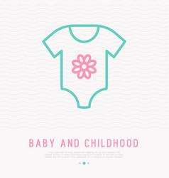baby body thin line icon vector image