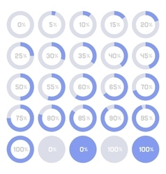 Circle Diagram Pie Charts Infographic Elements vector image vector image