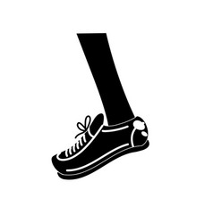 Contour leg with sport sneaker to practice vector