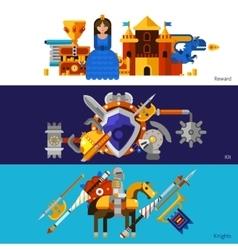 Horizontal Knight Banners Set vector image