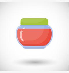 jam in jar flat icon vector image