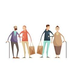 Volunteering Design Concept vector image vector image