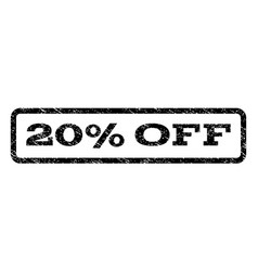 20 percent off watermark stamp vector