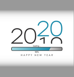 2020 new year with loading bar vector image