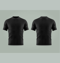 3d or realistic black t-shirt or shirt wear vector