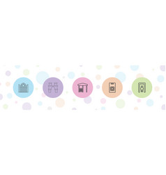 5 gate icons vector