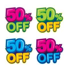 50 percent off - logo template set vector