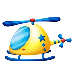 A helicopter toy vector