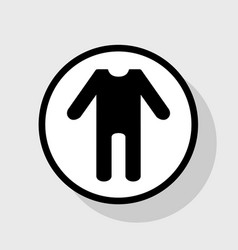 baby clothes sign flat black icon in vector image