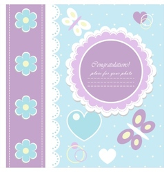 Beautiful background for greeting card vector image
