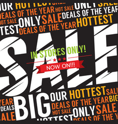 big sale deal vector image