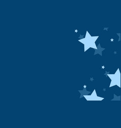 Blue background with star design collection vector