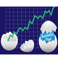 Business eggs hatch vector