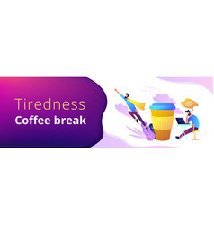 coffee break header or footer banner vector image