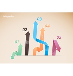 Colorful diagram with arrows and numbers vector image