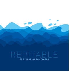 concept blue sea water waves pattern vector image