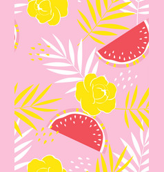 creative fruit pattern vector image