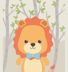 cute and little in field vector image