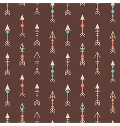 Cute geometric seamless pattern in cartoon style vector image