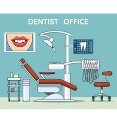Dentist office vector