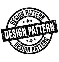 Design pattern round grunge black stamp vector