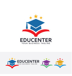 Education center logo design vector
