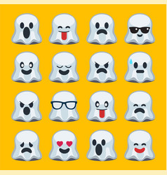 Emoji halloween ghost vector
