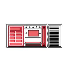 entertainment ticket icon vector image vector image