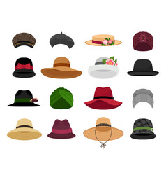 female hats and caps vector image